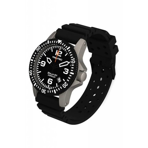 Copilot Automatic Watch Stainless Black Rubber Strap