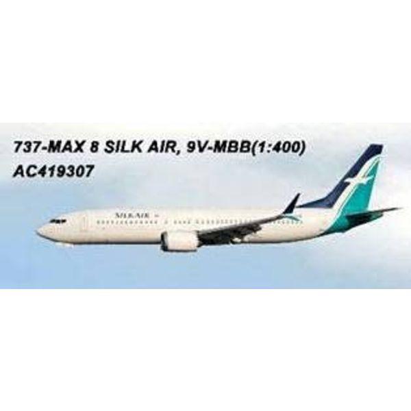 AeroClassics B737 MAX8 Silk Air 9V-MBB 1:400