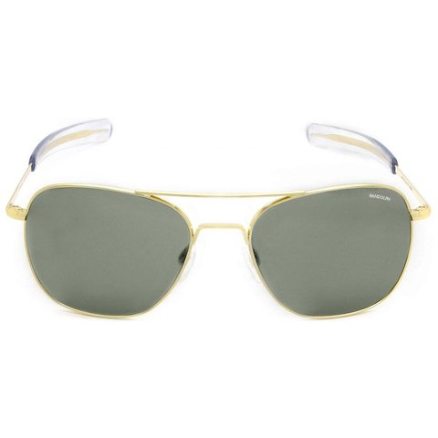 Aviator Gold 23k Bayonet Glass AGX AR 58 Sunglasses