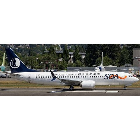 B737 MAX8 Shandong Airlines B-1271 1:200 with stand