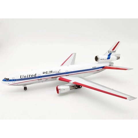 DC10-10 United Airlines N1801U DC10 Polished 1:200 with stand