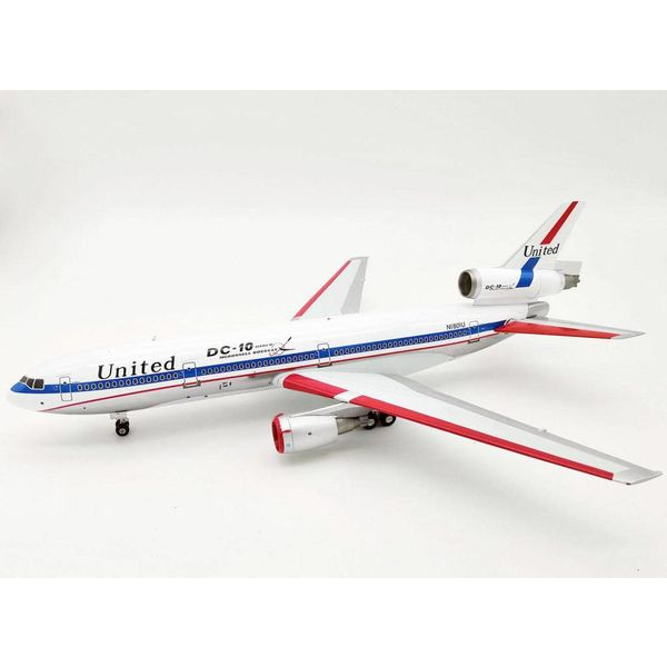 InFlight DC10-10 United Airlines N1801U DC10 Polished 1:200 with stand