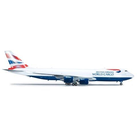 B747-8F British Airways Cargo union livery 1:200 with stand