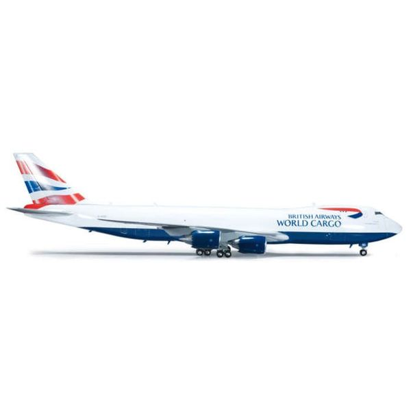 Herpa B747-8F British Airways Cargo union livery 1:200 with stand