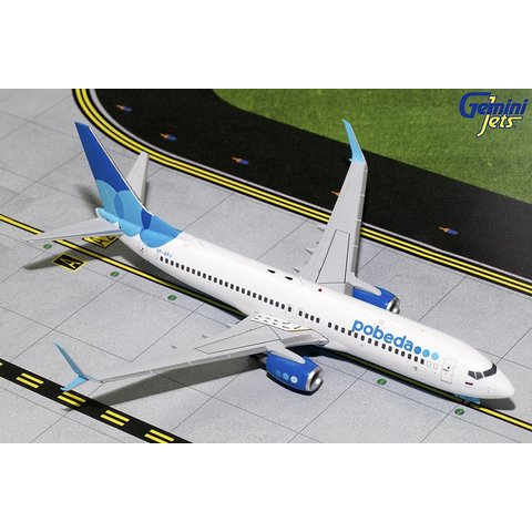 B737-800S Pobeda VP-BPJ 1:200 with stand
