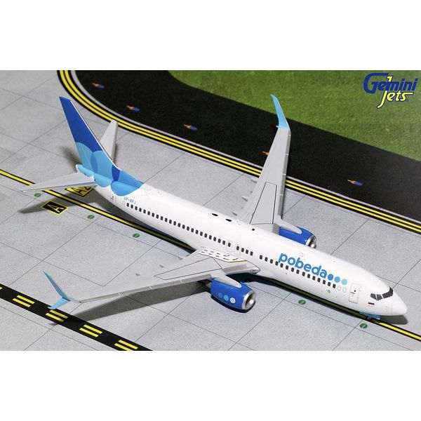 Gemini Jets B737-800S Pobeda VP-BPJ 1:200 with stand