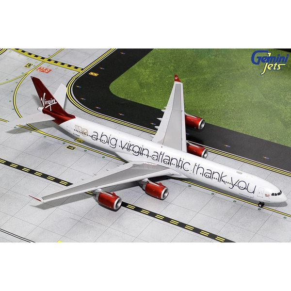 Gemini Jets A340-600 Virgin Atlantic A Big Thank You G-VNAP 1:200 with stand