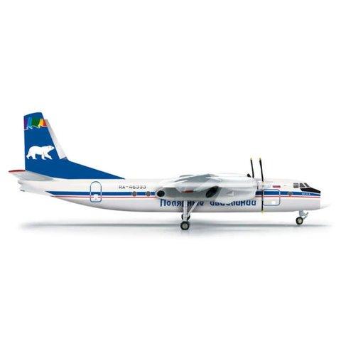 AN24B Polar / Polarnye Avialinii RA-46333 1:200 with stand