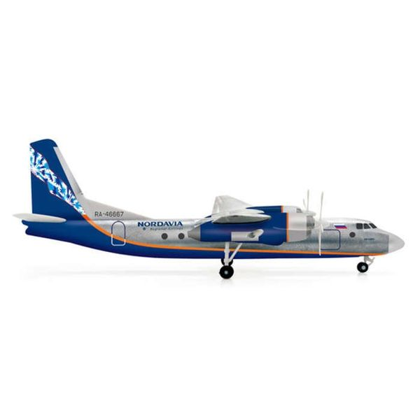 Herpa AN24RV Nordavia RA-46667 1:200 with stand
