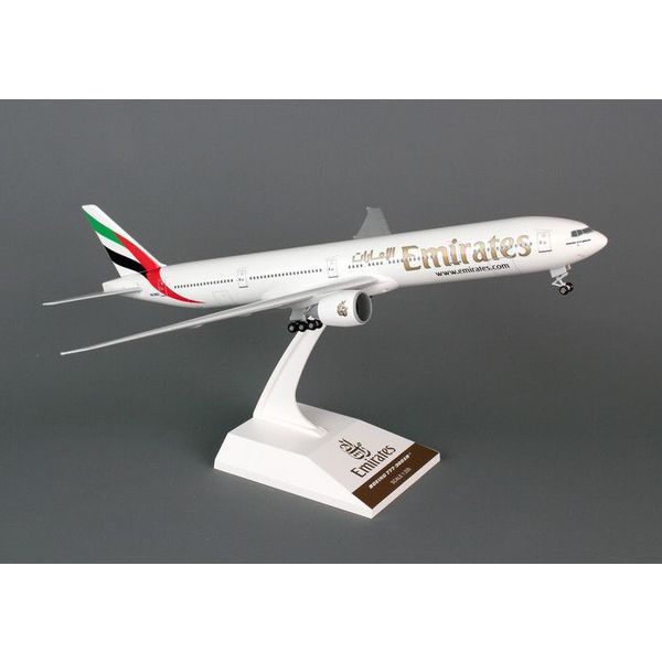 SkyMarks B777-300ER Emirates 1:200 with gear + stand