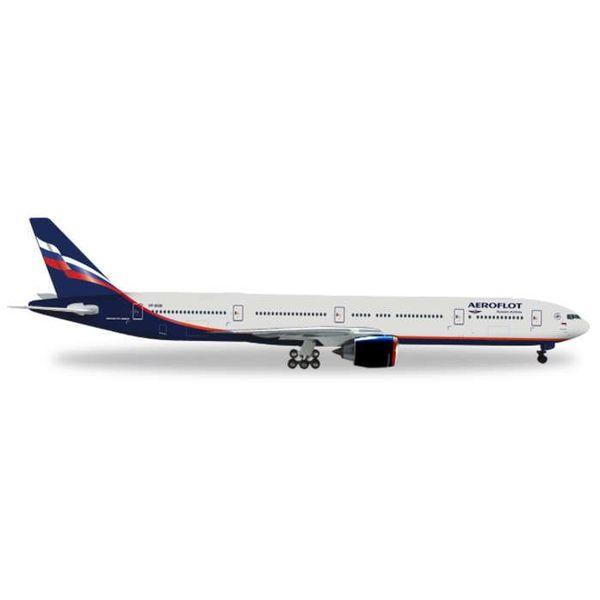 Herpa B777-300ER Aeroflot 2003 librty 1:200 with gear + stand