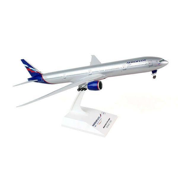 SkyMarks B777-300 Aeroflot 2003 livery 1:200 with gear + stand