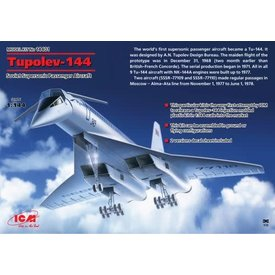ICM TU144 Supersonic Transport Soviet Aeroflot 1:144
