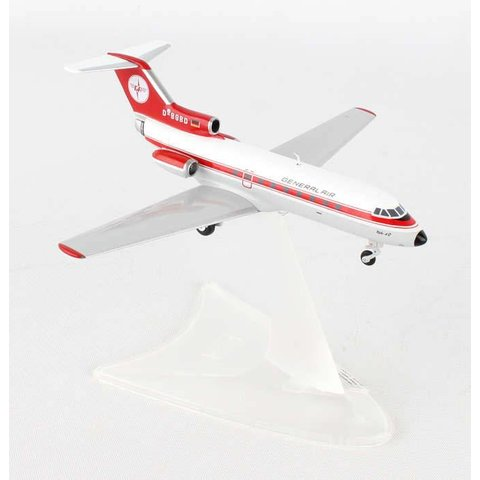 Yak40 General Air D-BGBD 1:200 with stand