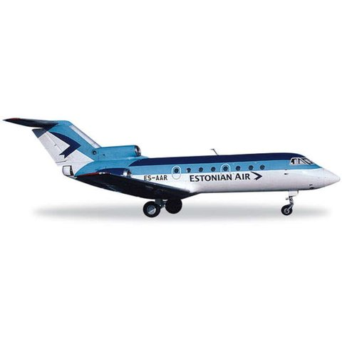 Yak40 Estonian Air 1:200 with stand