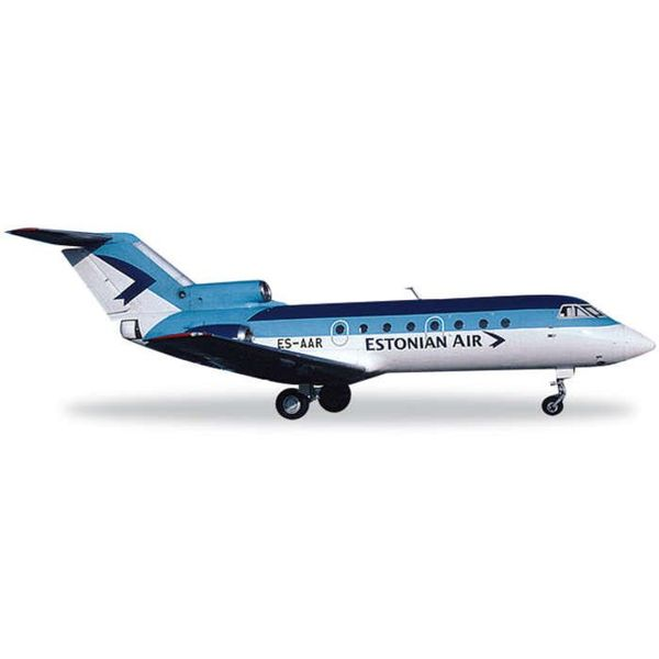 Herpa Yak40 Estonian Air 1:200 with stand