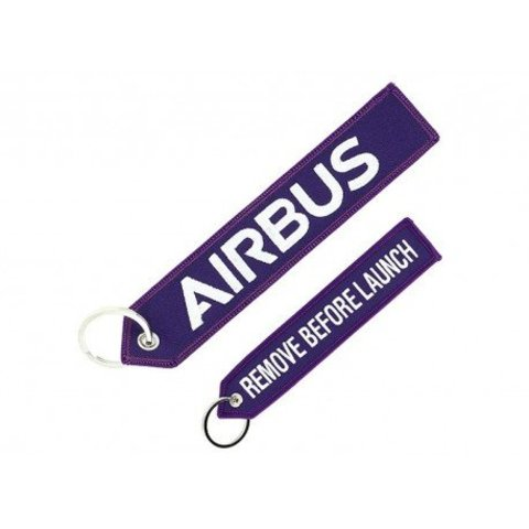 "Airbus ""Remove before launch"" key ring"