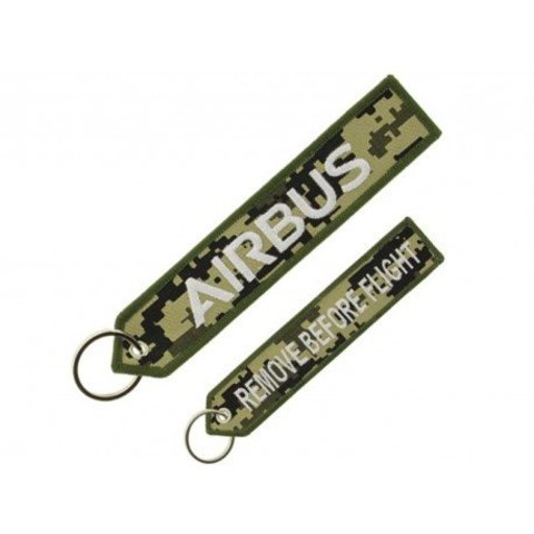 "Military Airbus ""remove before flight"" key ring"