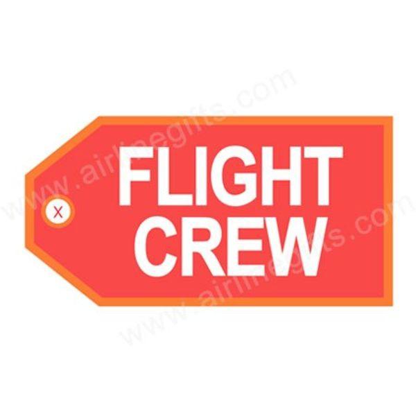 Luggage Tag Crew Orange