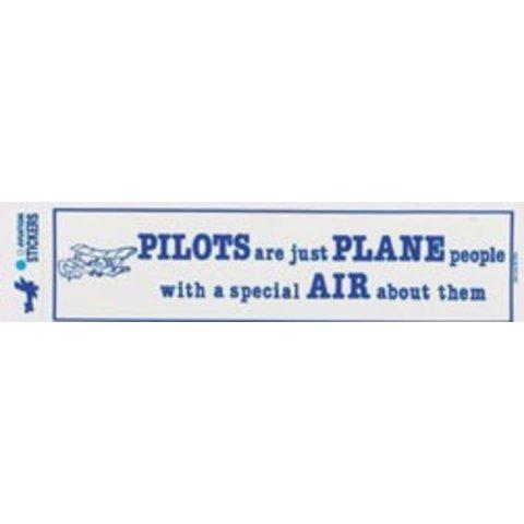 Plane People Bumper Sticker