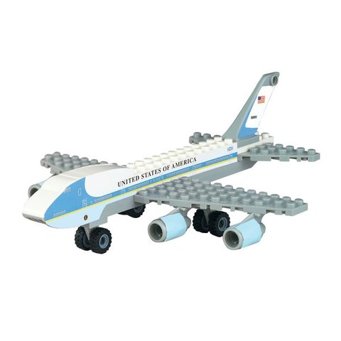 Air Force One B747-200 VC25 construct (55 Pieces)