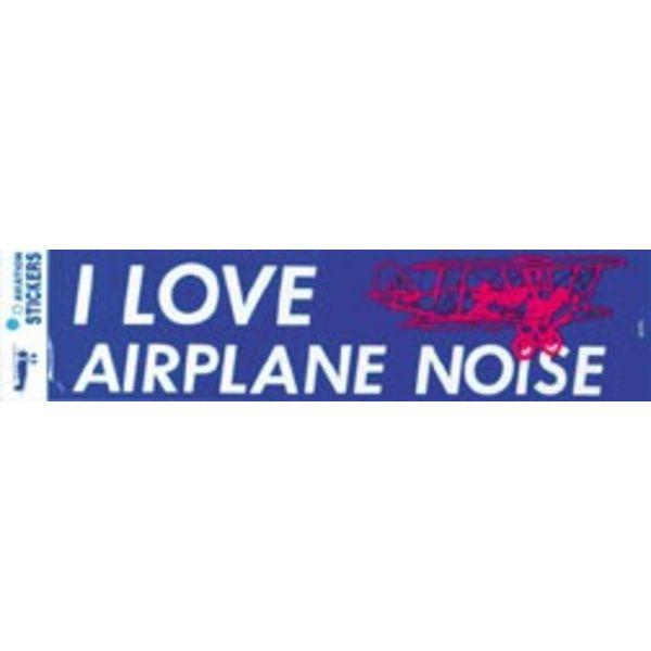 I Love Airplane Noise Bumper Sticker