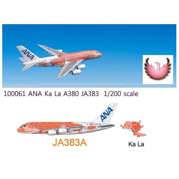 Phoenix A380-800 ANA Sea Turtle Ka La Red JA383A 1:400