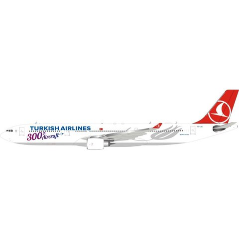 A330-300 Turkish Airlines 300th Aircraft TC-LNC 1:200 With Stand