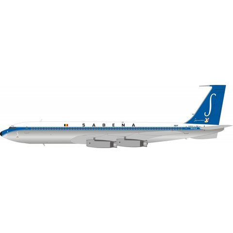B707-300 Sabena OO-SJA polished 1:200 With Stand