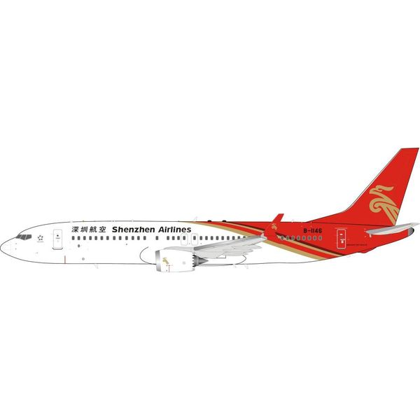 InFlight B737 MAX8 Shenzhen Airlines B-1146 1:200 With Stand