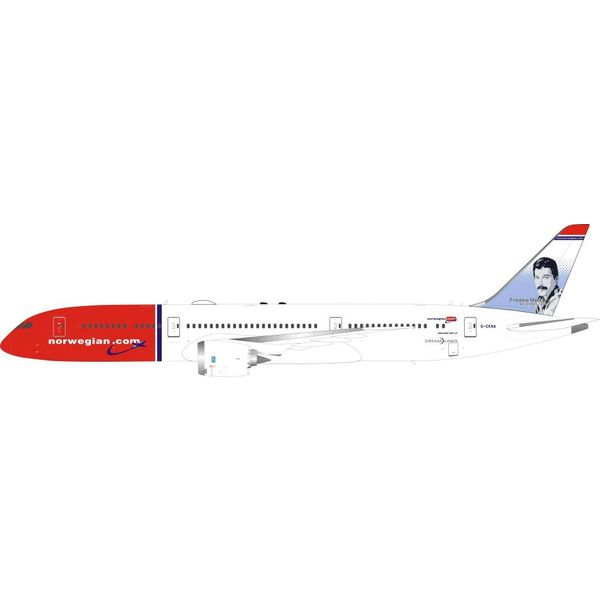 InFlight B787-9 Dreamliner Norwegian Freddie Mercury G-CKNA 1:200 with stand
