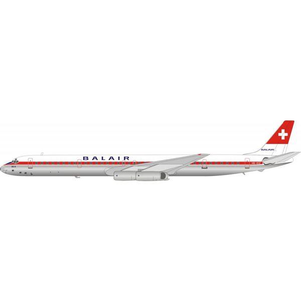 InFlight DC8-63 Balair HB-IDZ 1:200 with stand