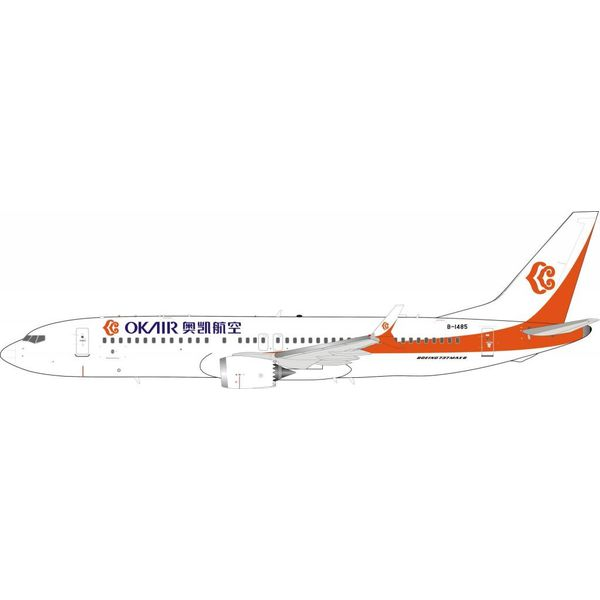 InFlight B737 MAX8 OK Air (China) B-1485 1:200 With Stand