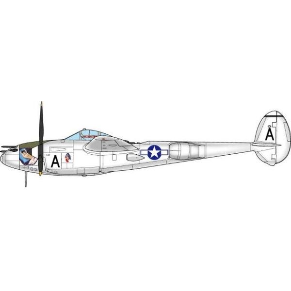 JC Wings P38L Lighting 36th FS 8th FG USAAF Lt.L.V.Bellusci, Pacific Theatre, 1945 1:72 with stand