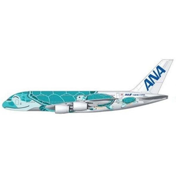 JC Wings A380-800 ANA Sea Turtle Kai Green JA382A 1:200 with stand