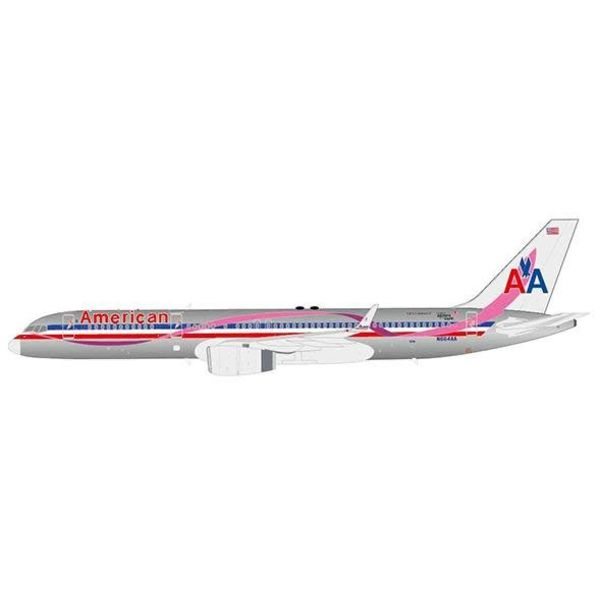JC Wings B757-200W American Airlines AA livery Breast Cancer BCA N664AA 1:400 with antenna