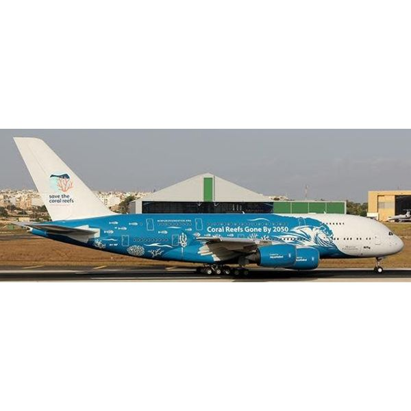 JC Wings A380-800 HiFly Save the Coral Reefs 2050 9H-MIP 1:400