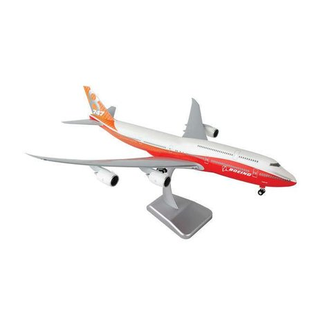 B747-8I Boeing House Red / Orange livery 1:200 With Gear + Stand