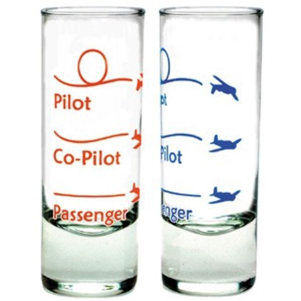 Shot Glass Passenger Co-pilot Pilot