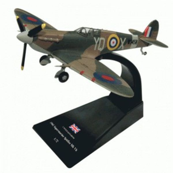 Pilot Collectibles Supermarine Spitfire MkVB RAF YQ-X 1941 1:72 with stand