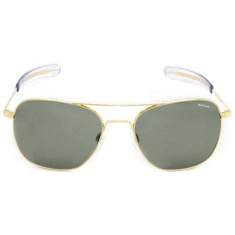 Aviator Gold 23k Bayonet Glass AGX AR 55 Sunglasses