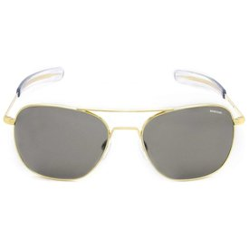 Randolph Engineering Aviator Gold 23k Bayonet Glass Gray AR 52 Sunglasses