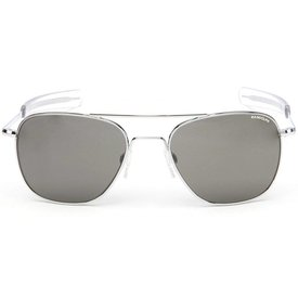 Randolph Engineering Aviator Bright Chrome Bayonet Glass Gray AR 58 Sunglasses