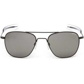 Randolph Engineering Aviator Matte Black Bayonet Glass Gray AR 52 Sunglasses