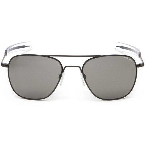 Aviator Matte Black Bayonet Glass Gray AR 52 Sunglasses