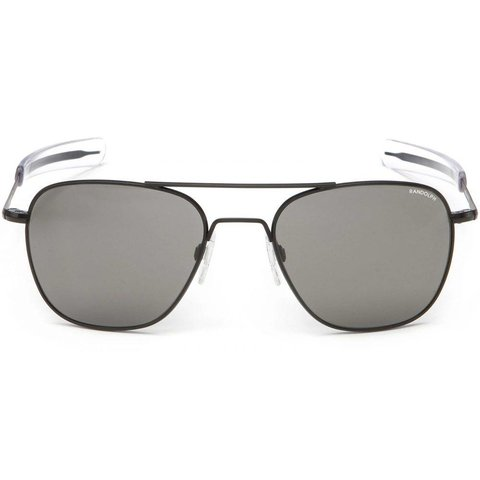 Aviator Matte Black Bayonet Glass Gray AR 55 Sunglasses