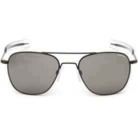 Randolph Engineering Aviator Matte Black Bayonet Glass Gray AR 58 Sunglasses