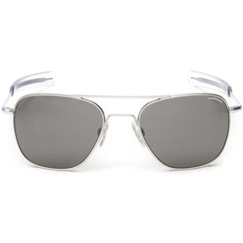 Randolph Engineering Aviator Matte Chrome Bayonet Glass Gray AR 55 Sunglasses