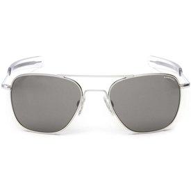 Randolph Engineering Aviator Matte Chrome Bayonet Glass Gray AR 58 Sunglasses