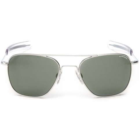 Aviator Matte Chrome Bayonet Glass AGX AR 52 Sunglasses